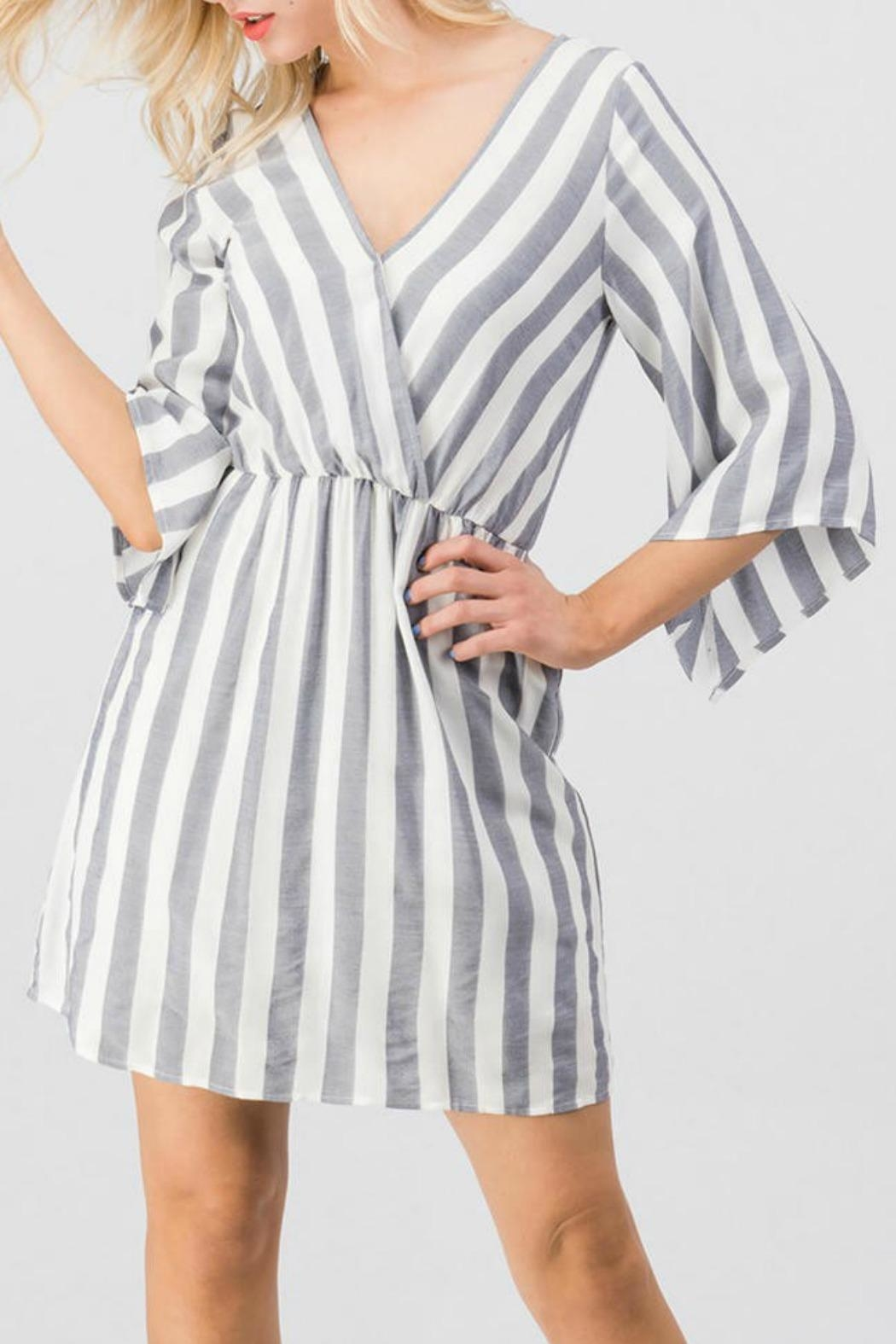 Trend:notes Mary Striped Dress - Side Cropped Image