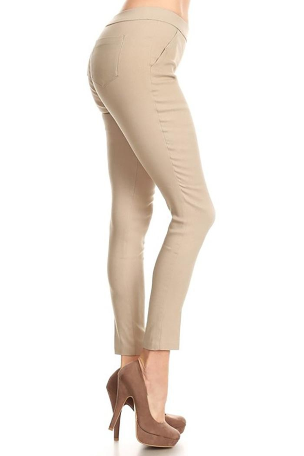 Mary Clan Four Way Stretch Pants - Side Cropped Image