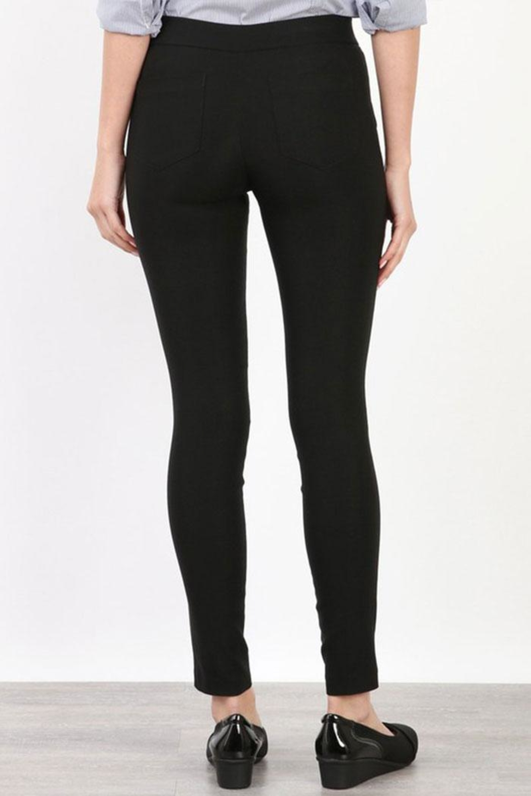Mary Clan Four Way Stretch Pants - Back Cropped Image