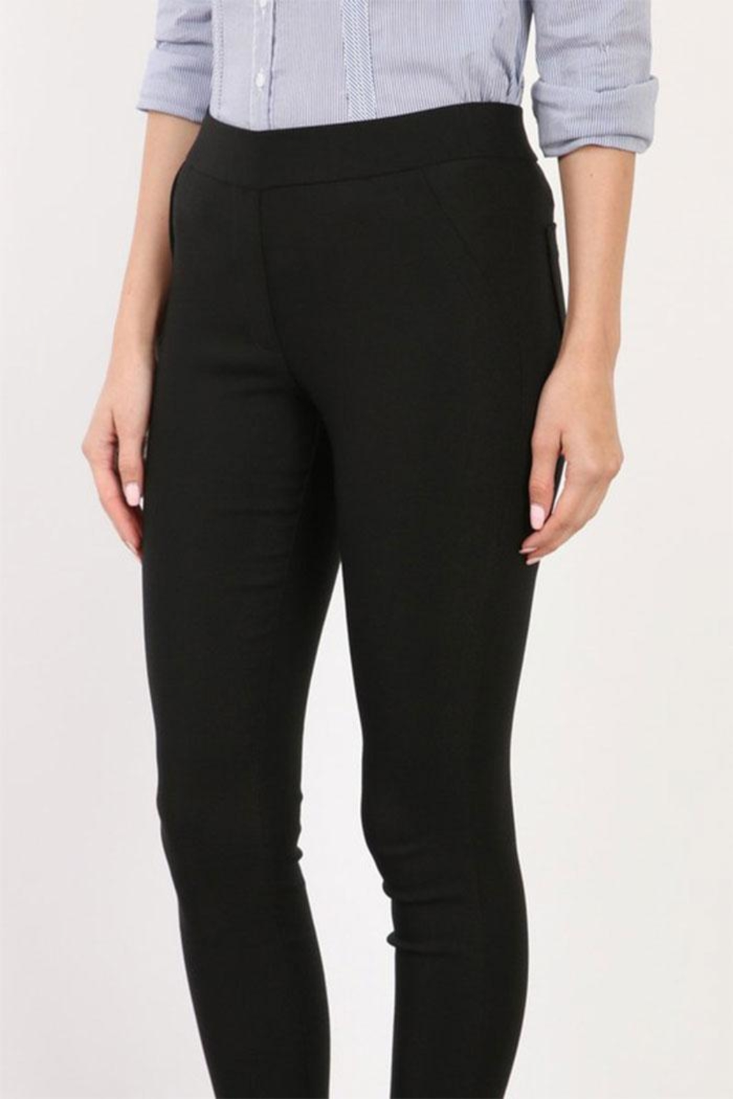 Mary Clan Four Way Stretch Pants - Front Full Image