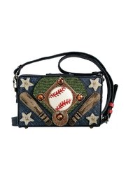 Mary Frances Baseball Leather Purse - Front cropped