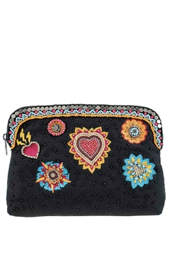 Mary Frances Flaming Hearts Beaded Make-Up Bag - Product List Image