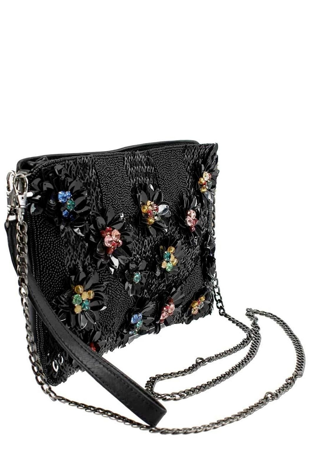 Mary Frances Floral Lux Crossbody-Clutch - Back Cropped Image