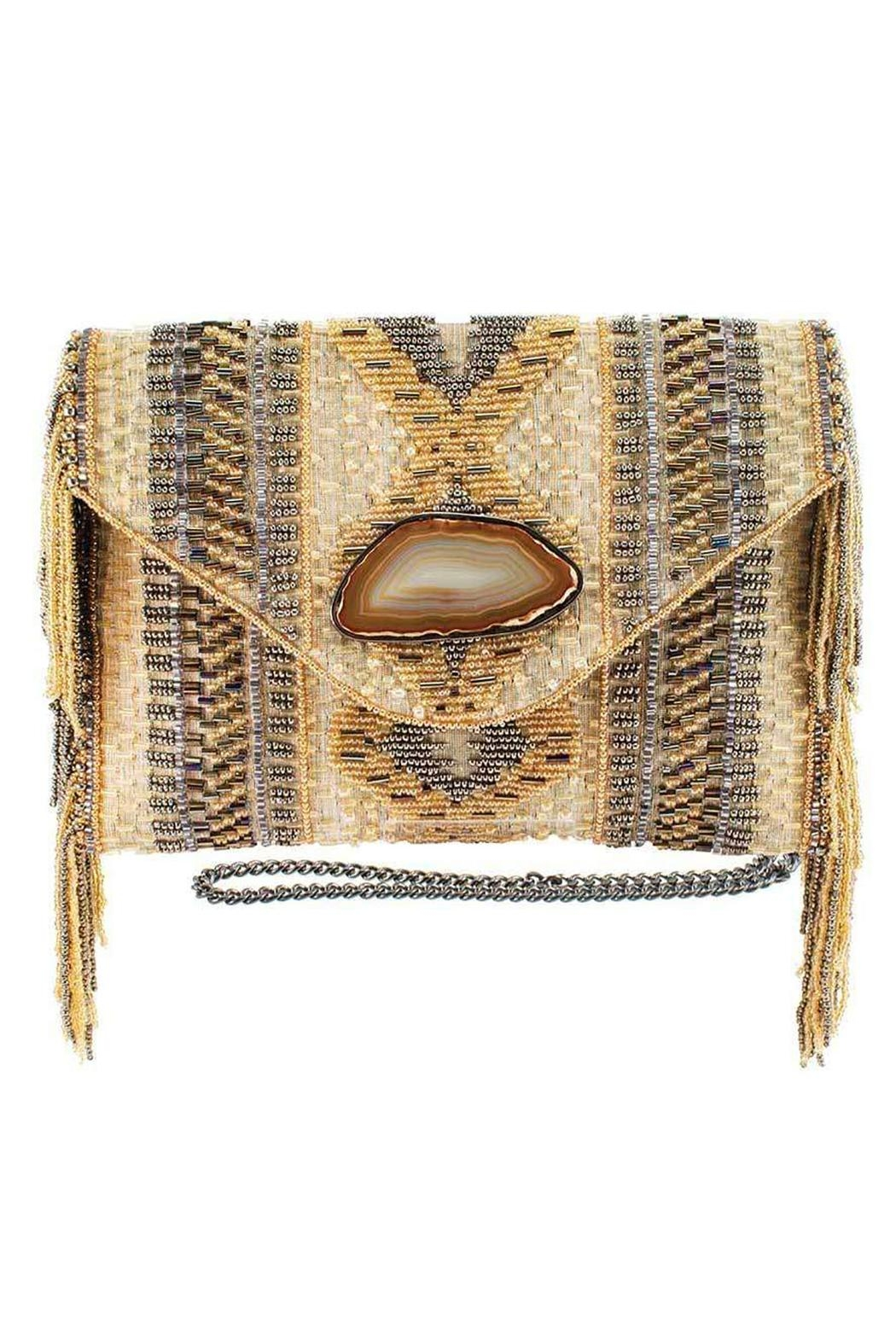 Mary Frances Prairie Tan Handbag - Front Cropped Image