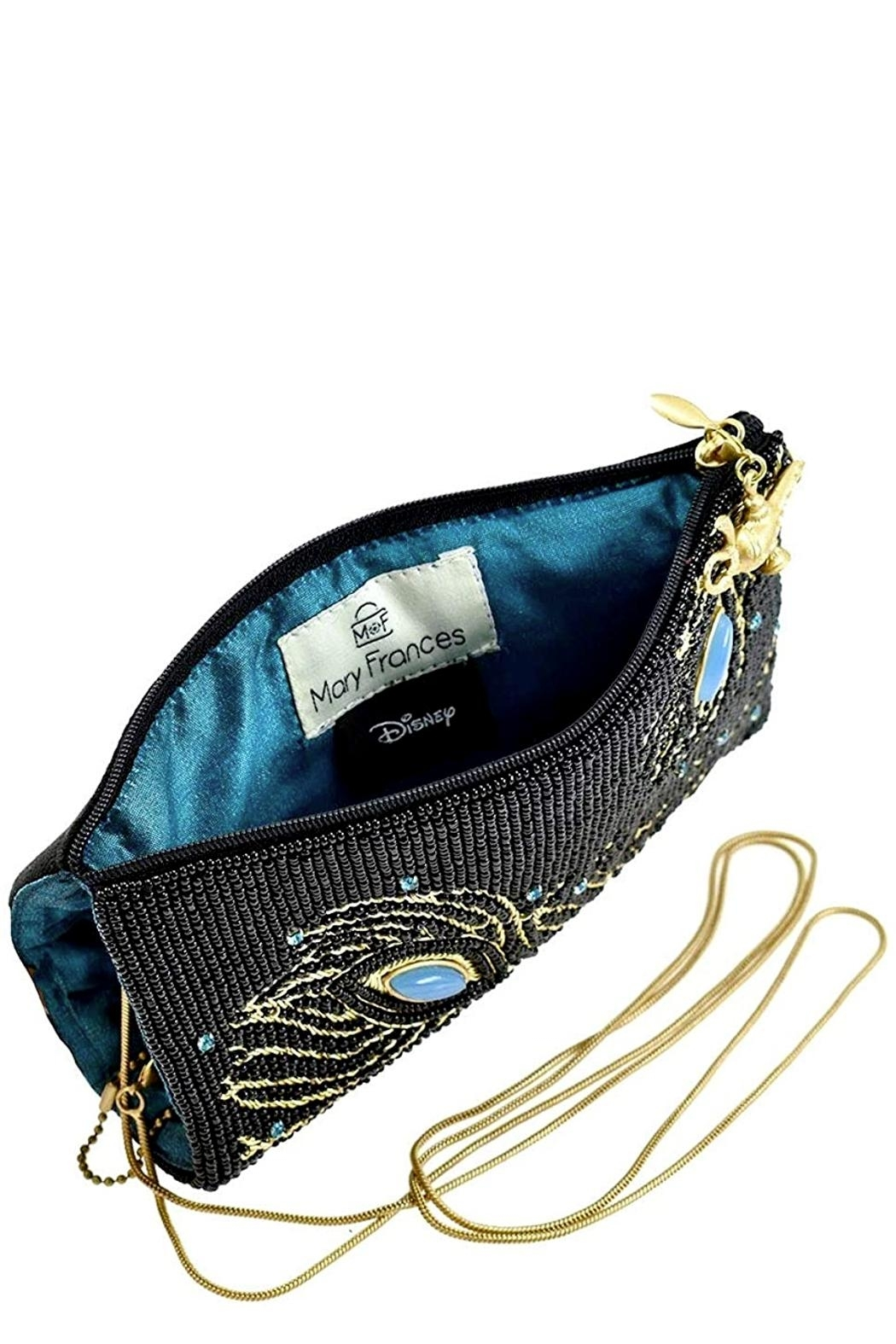Mary Frances  Shimmering Feathers Aladdin Phone Crossbody - Side Cropped Image