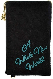 Mary Frances  Shimmering Feathers Aladdin Phone Crossbody - Front full body