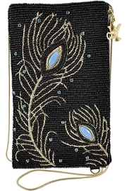 Mary Frances  Shimmering Feathers Aladdin Phone Crossbody - Product Mini Image