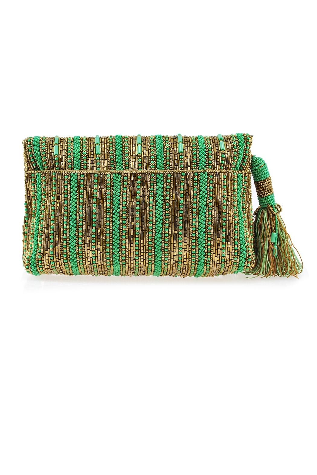Mary Frances 'Stripe-It-Green  Clutch - Front Full Image