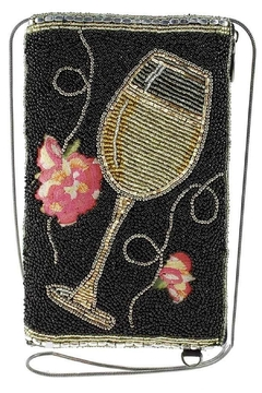 Mary Frances Wine-Not? Beaded & Embroidered Phone Crossbody - Product List Image