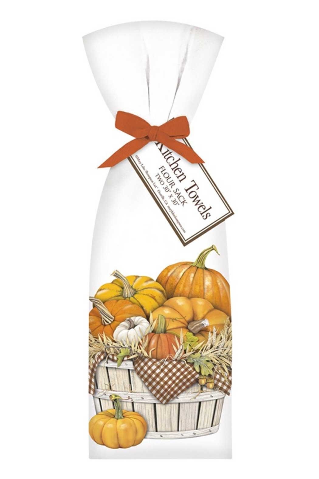 Mary Lake-Thompson Pumpkins & Vegetables Towel Set - Front Cropped Image