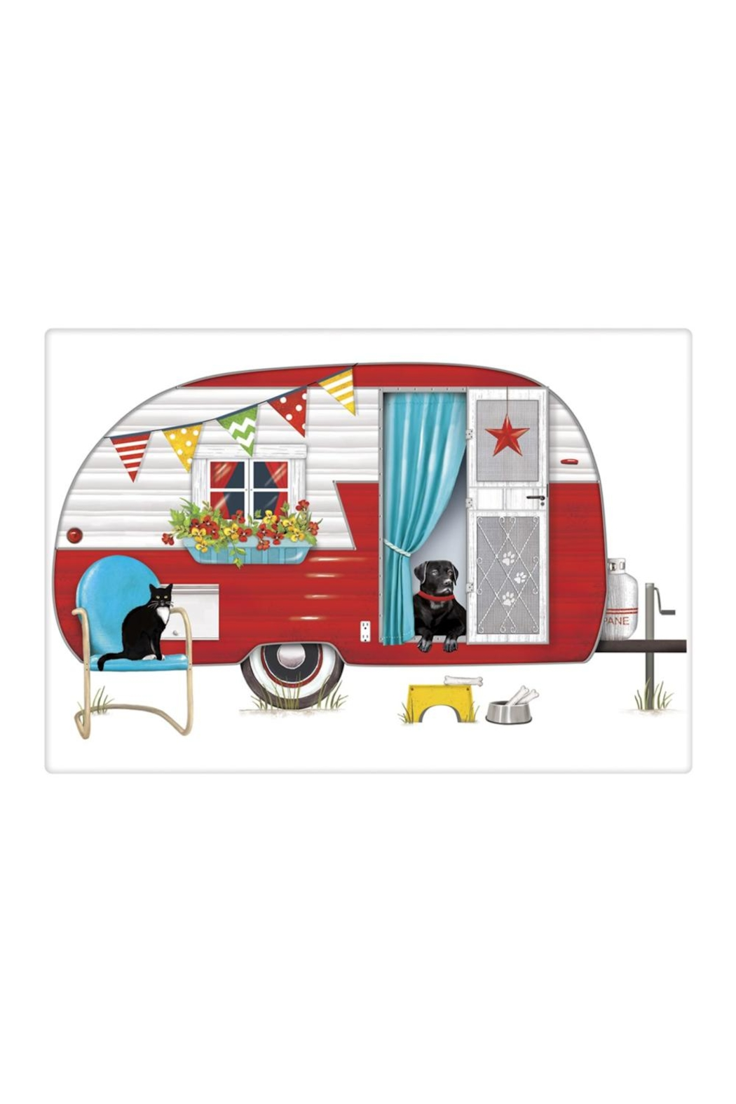 Mary Lake-Thompson Red Camper Towel - Main Image
