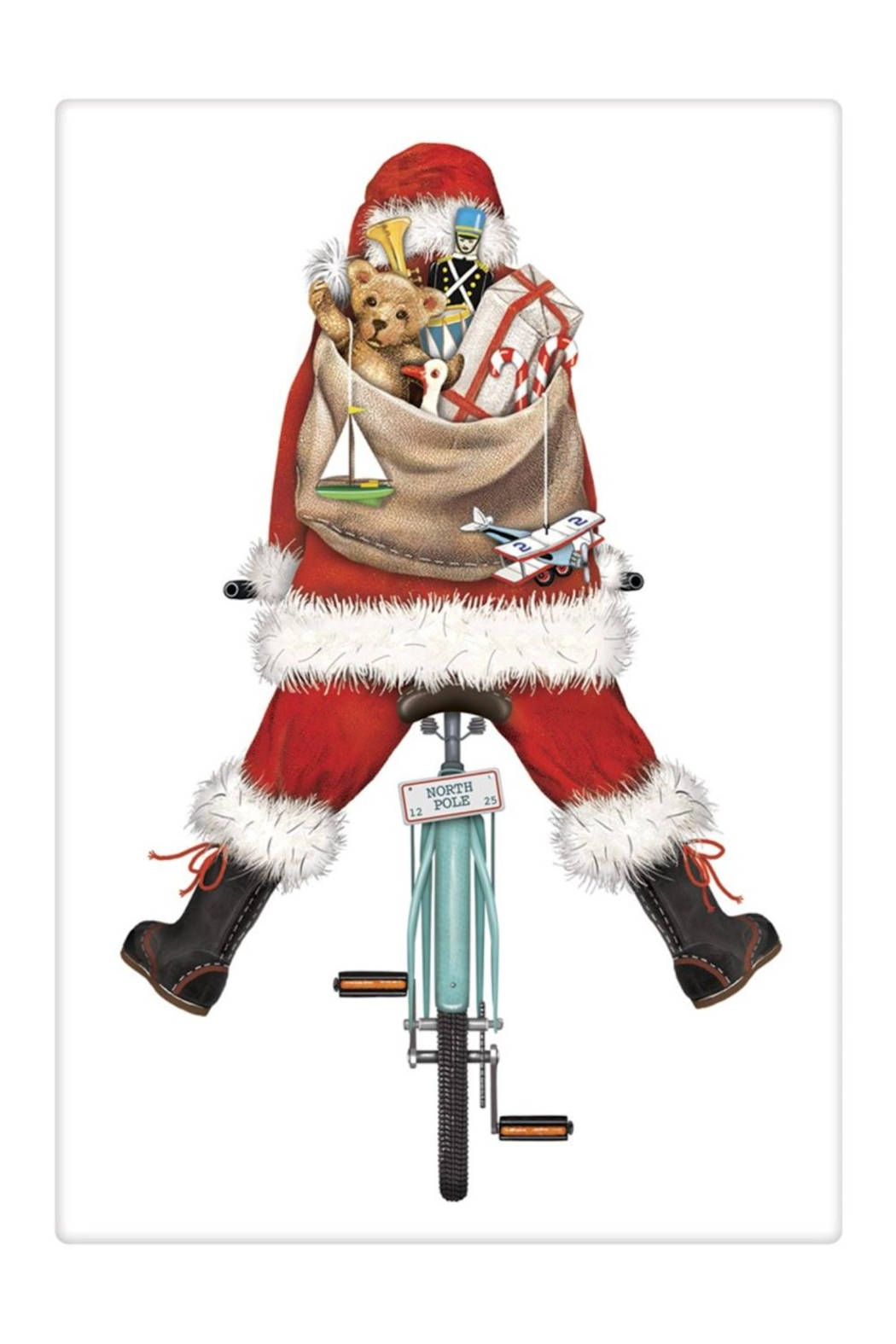 Mary Lake-Thompson Santa Bike Towel - Front Cropped Image