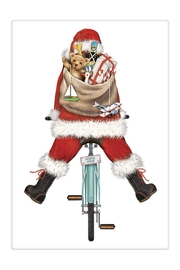 Mary Lake-Thompson Santa Bike Towel - Front cropped