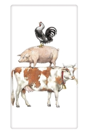 Mary Lake-Thompson Stacked Animals Towel - Product Mini Image