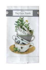 Mary Lake-Thompson Teacups Guest Towels - Front cropped
