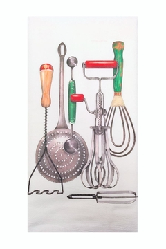 Mary Lake-Thompson Vintage Utensils Towel - Alternate List Image
