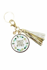 Mary Square Best Mom Keychain - Front cropped