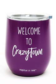 Mary Square Crazytown Wine Tumbler - Front cropped