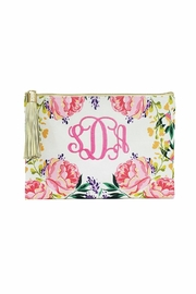 Mary Square Floral Tassel Pouch - Product Mini Image