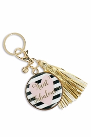 Mary Square Tassel Aunt Keychain - Product Mini Image
