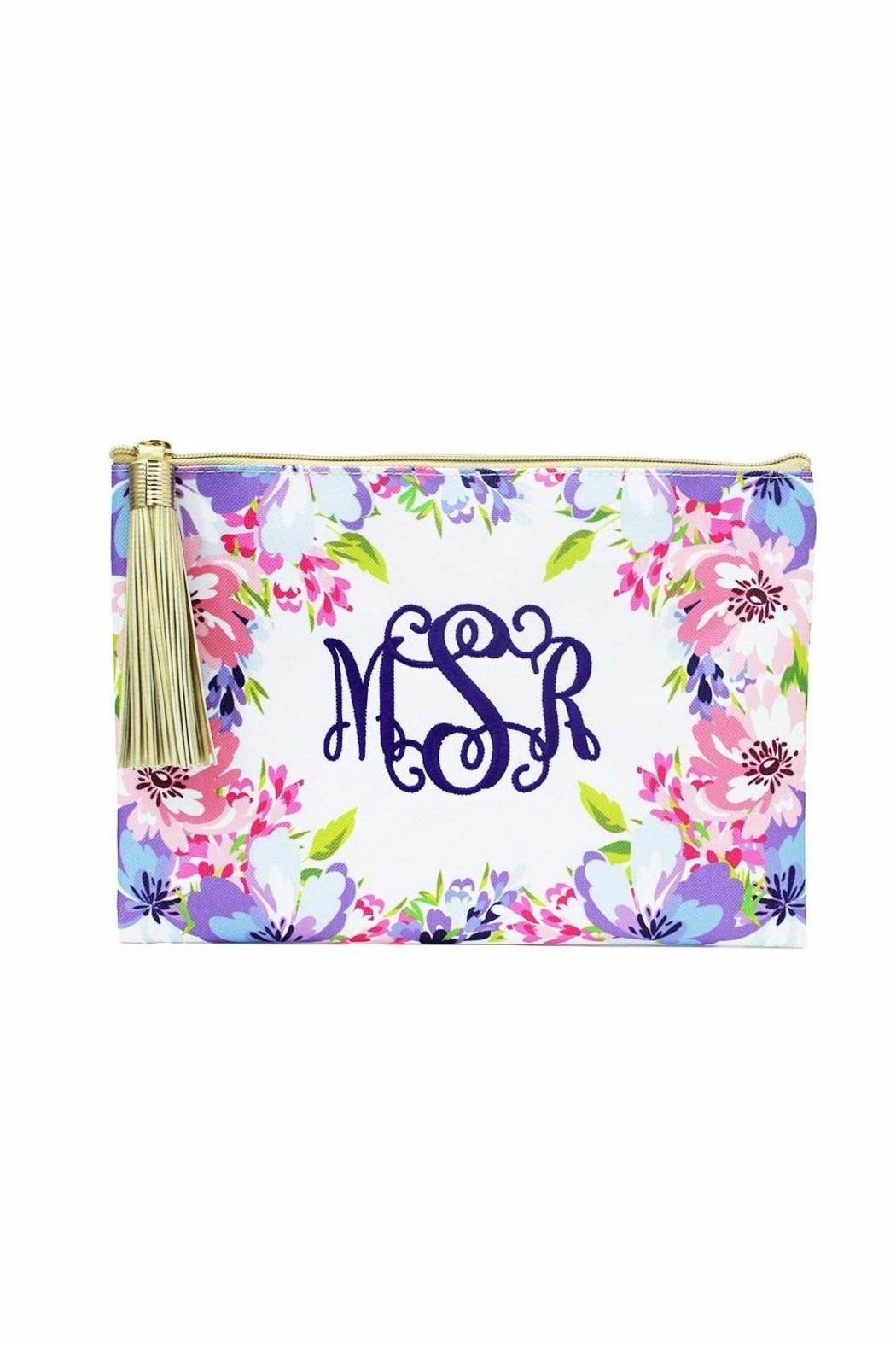 Mary Square Tropical Tassel Pouch - Main Image