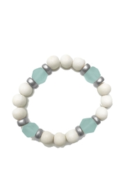 Mary Square Wood & Seaglass Bracelet - Product Mini Image