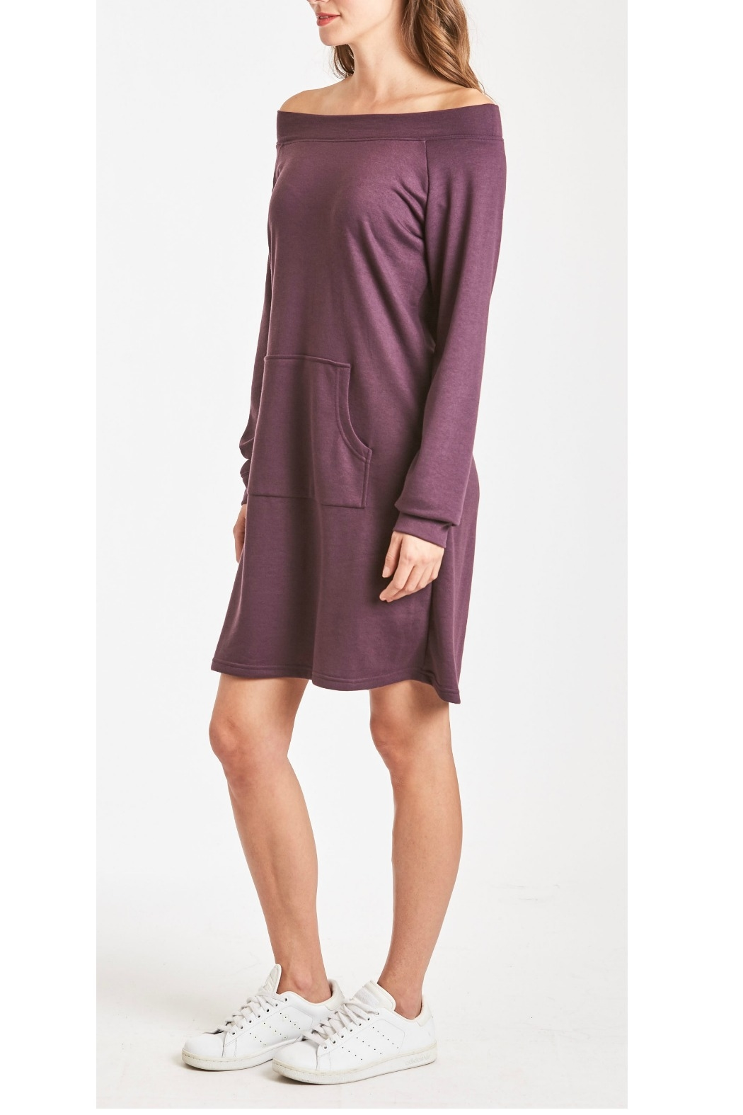 Another Love MaryJane Pocket Off-Shoulder Dress - Front Full Image