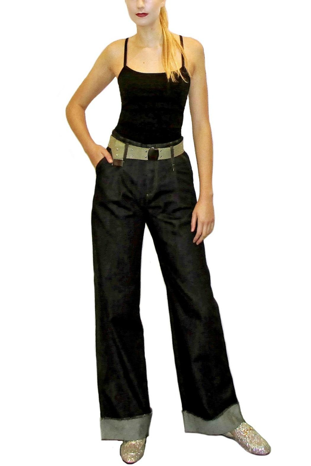 Maryley Denim Palazzo Belted - Main Image