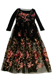 Maryley Floral Embroidery Maxi Dress - Front cropped