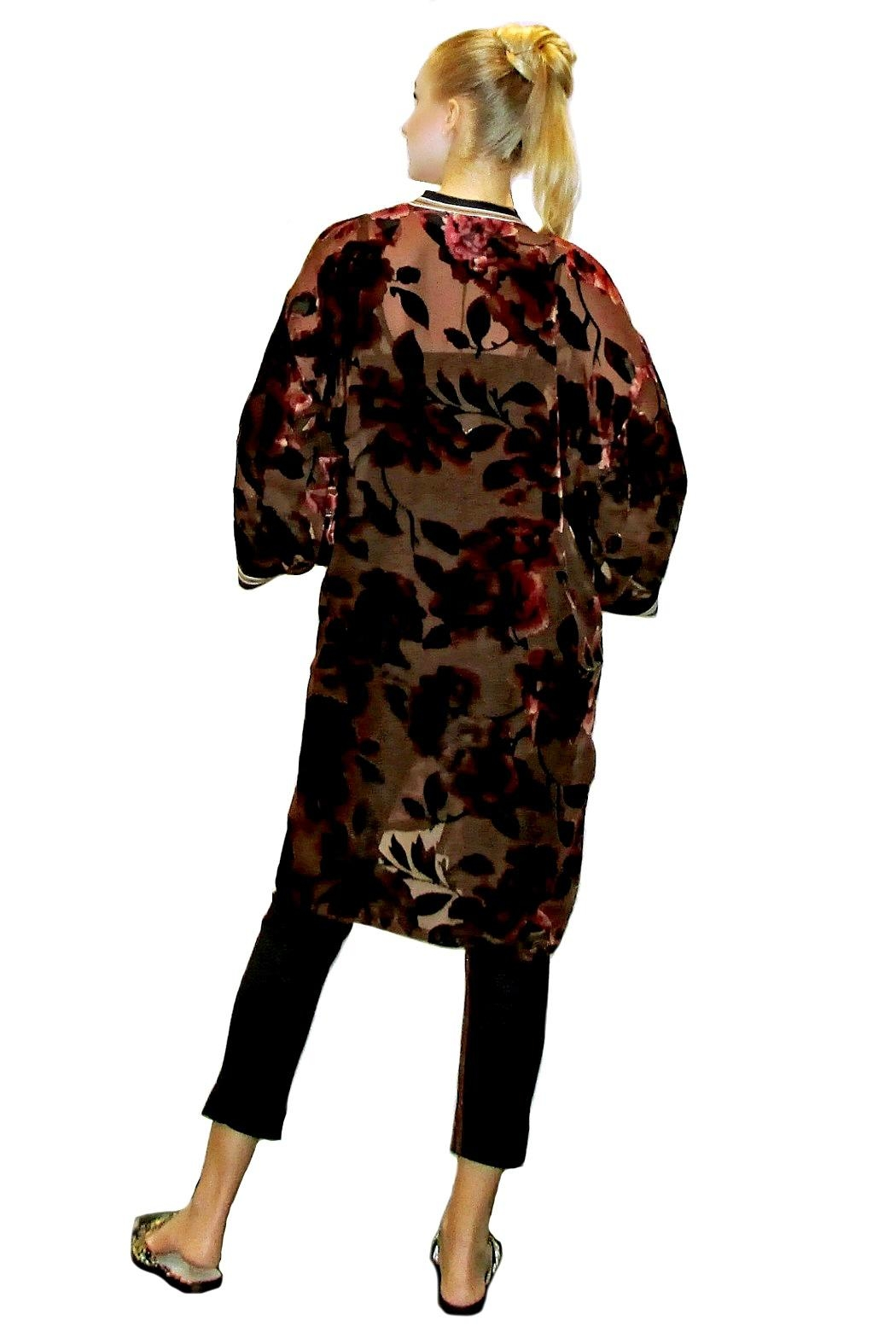 Maryley Floral Velvet Duster - Front Full Image