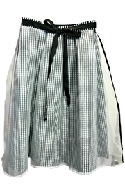 Maryley Gingham Chiffon Skirt - Front full body