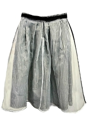 Maryley Gingham Chiffon Skirt - Side cropped