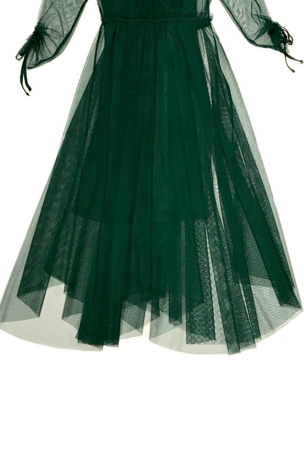 Maryley Green Tulle Dress - Side Cropped Image