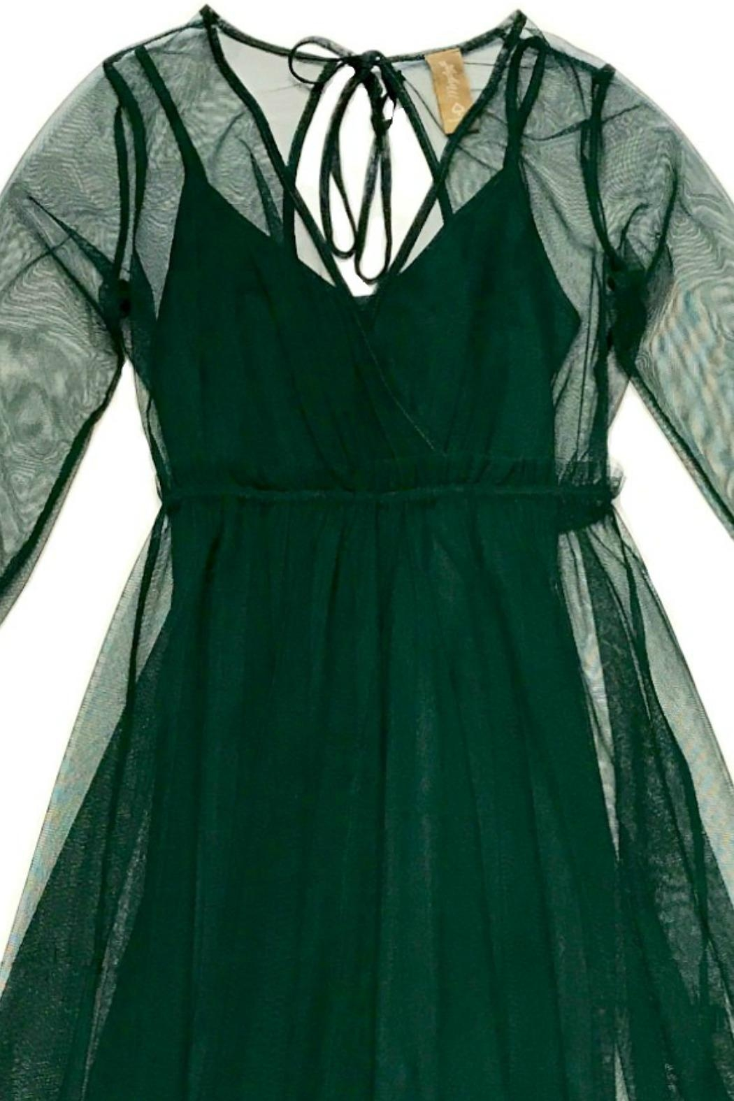 Maryley Green Tulle Dress - Front Full Image
