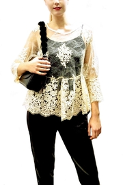Maryley Ivory Lace Blouse - Side cropped