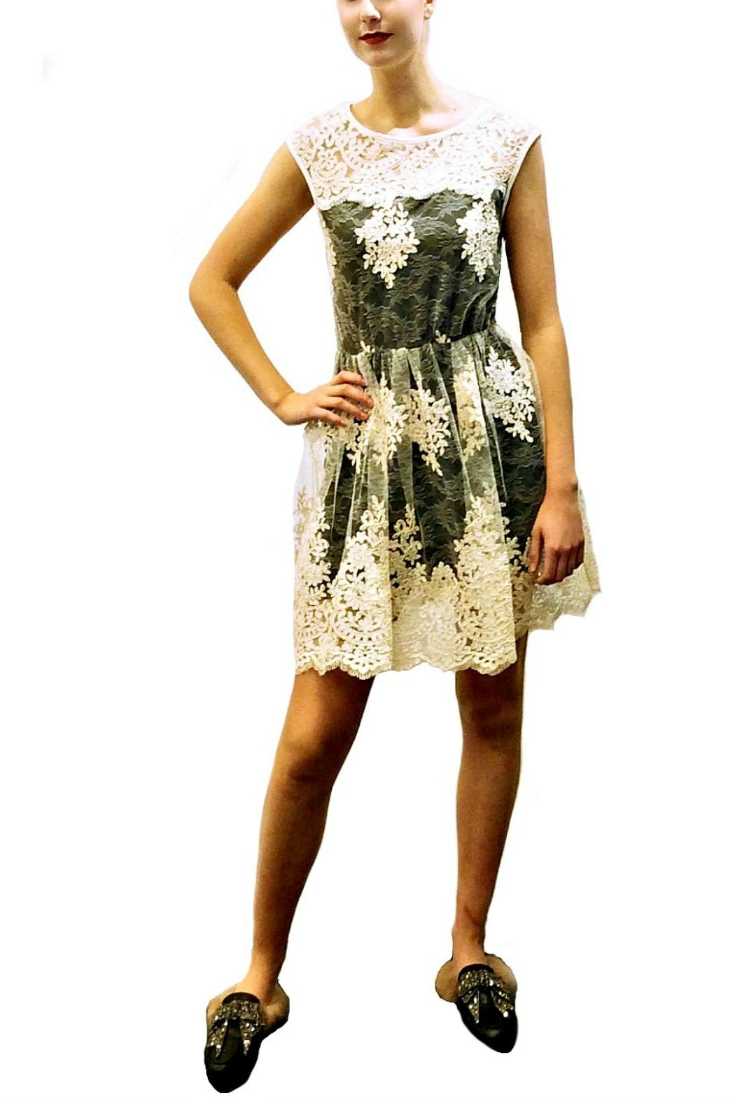 Maryley Ivory Lace Dress - Main Image