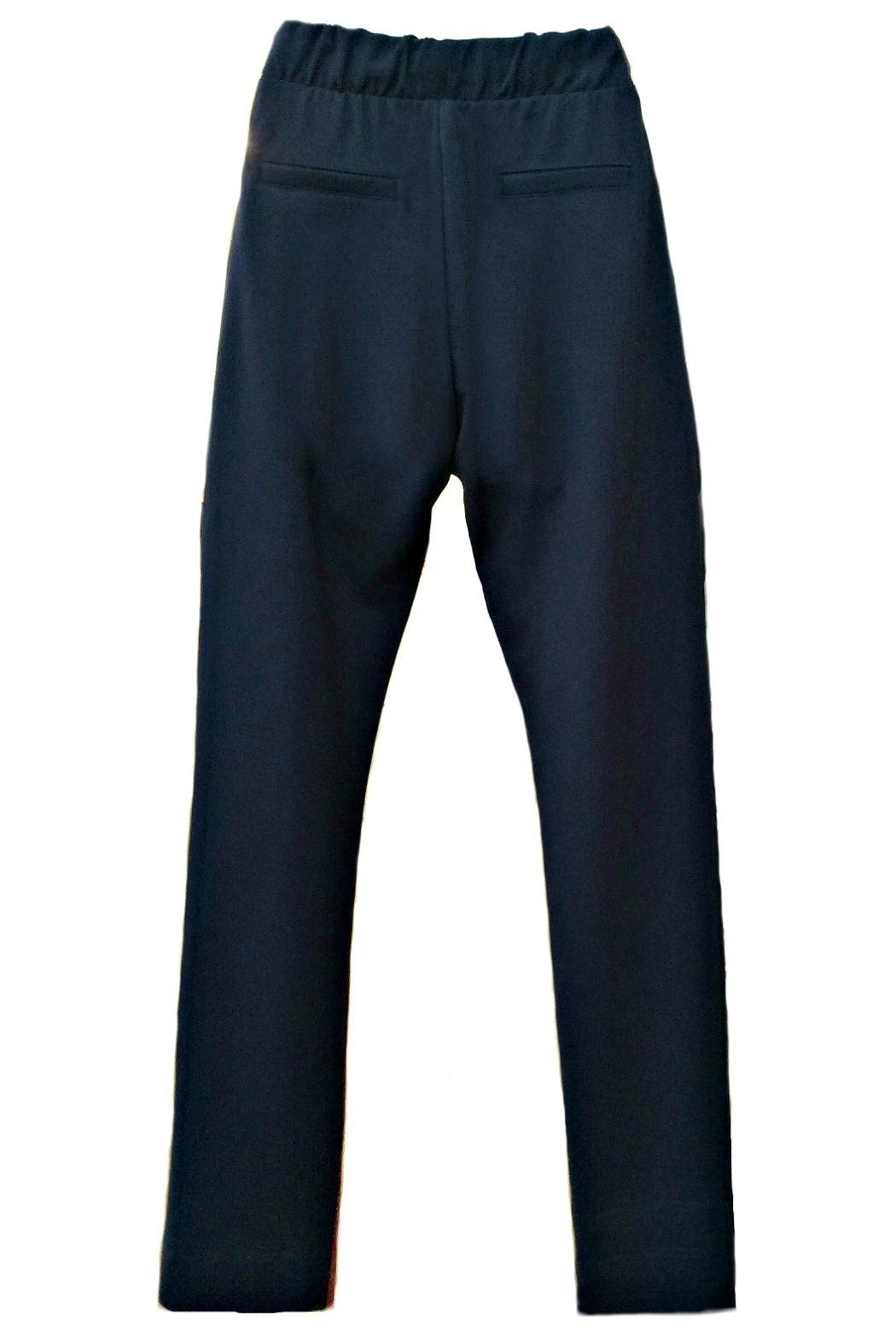 Maryley Navy Drawstring Pants - Side Cropped Image