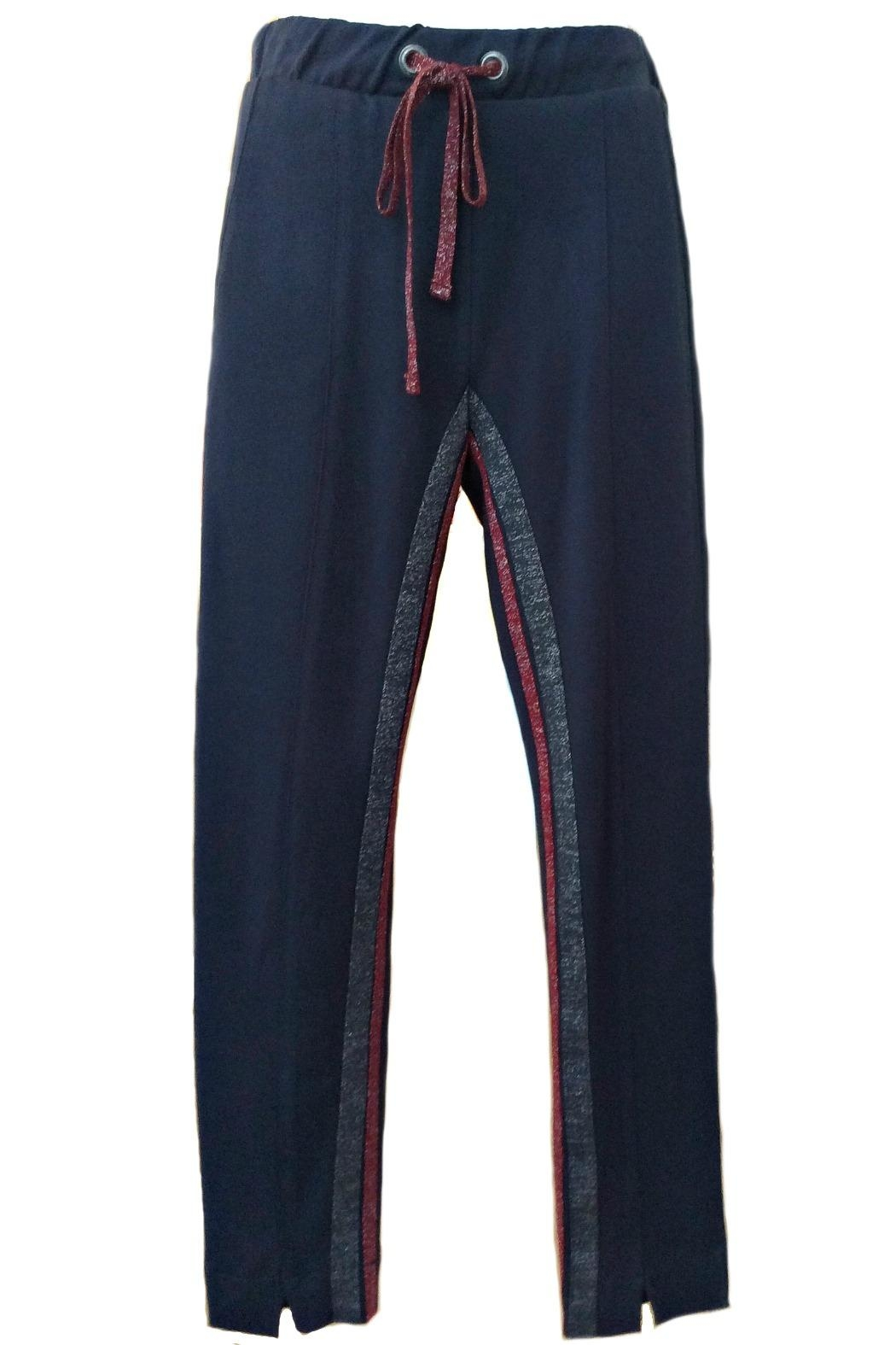 Maryley Navy Drawstring Pants - Front Cropped Image