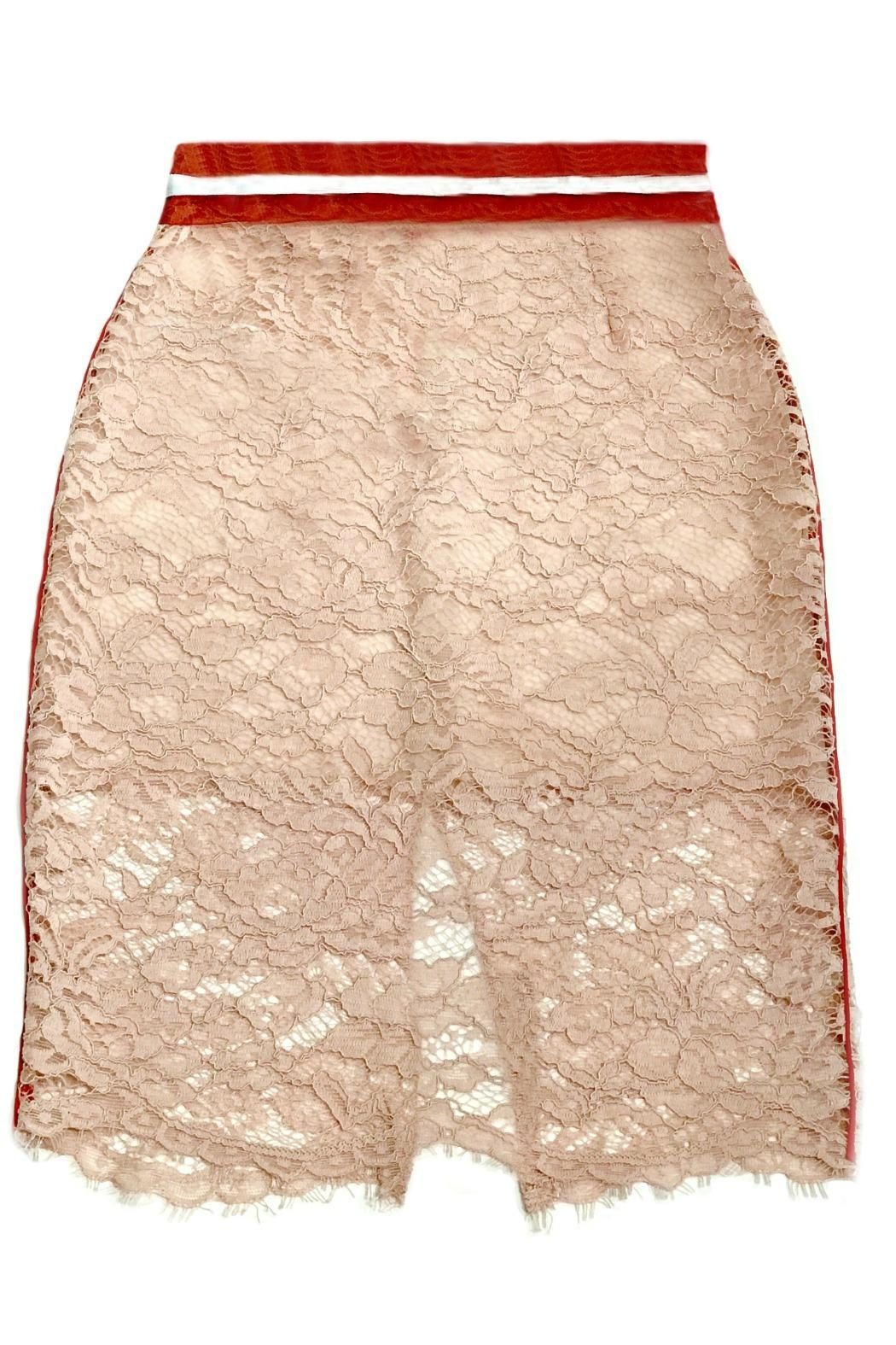 Maryley Pink Lace Skirt - Front Full Image