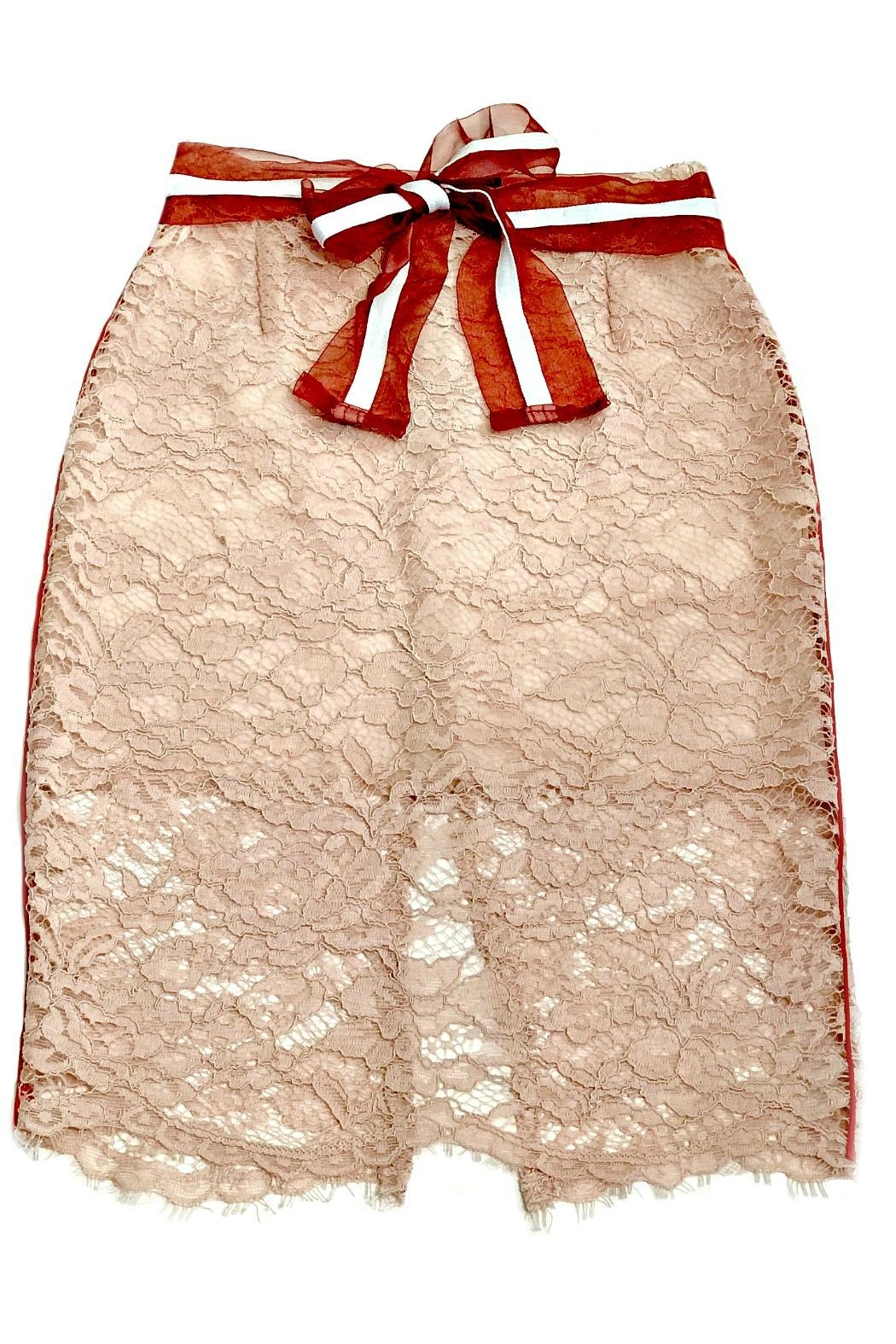 Maryley Pink Lace Skirt - Main Image