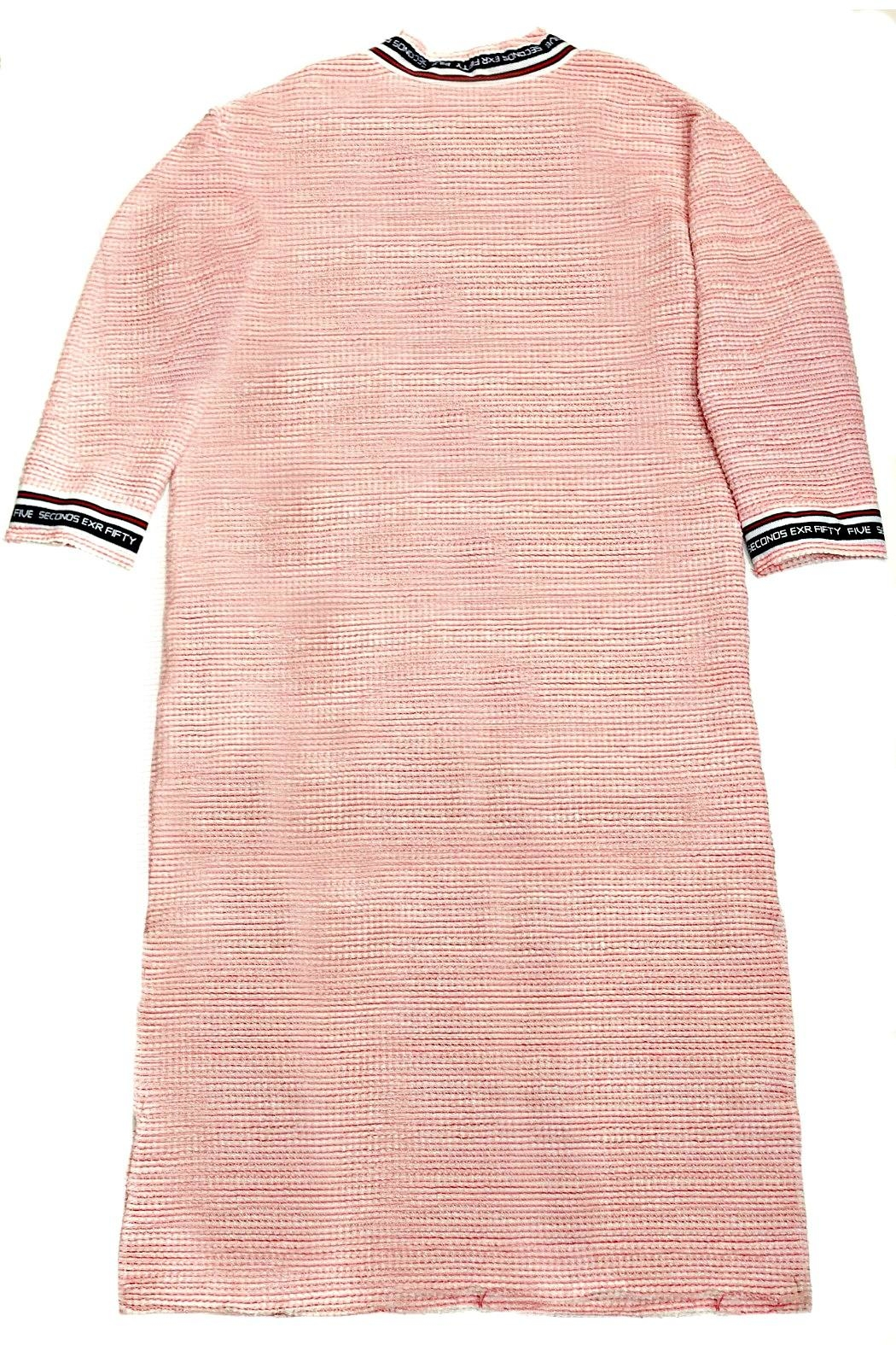 Maryley Pink Tweed Duster - Side Cropped Image