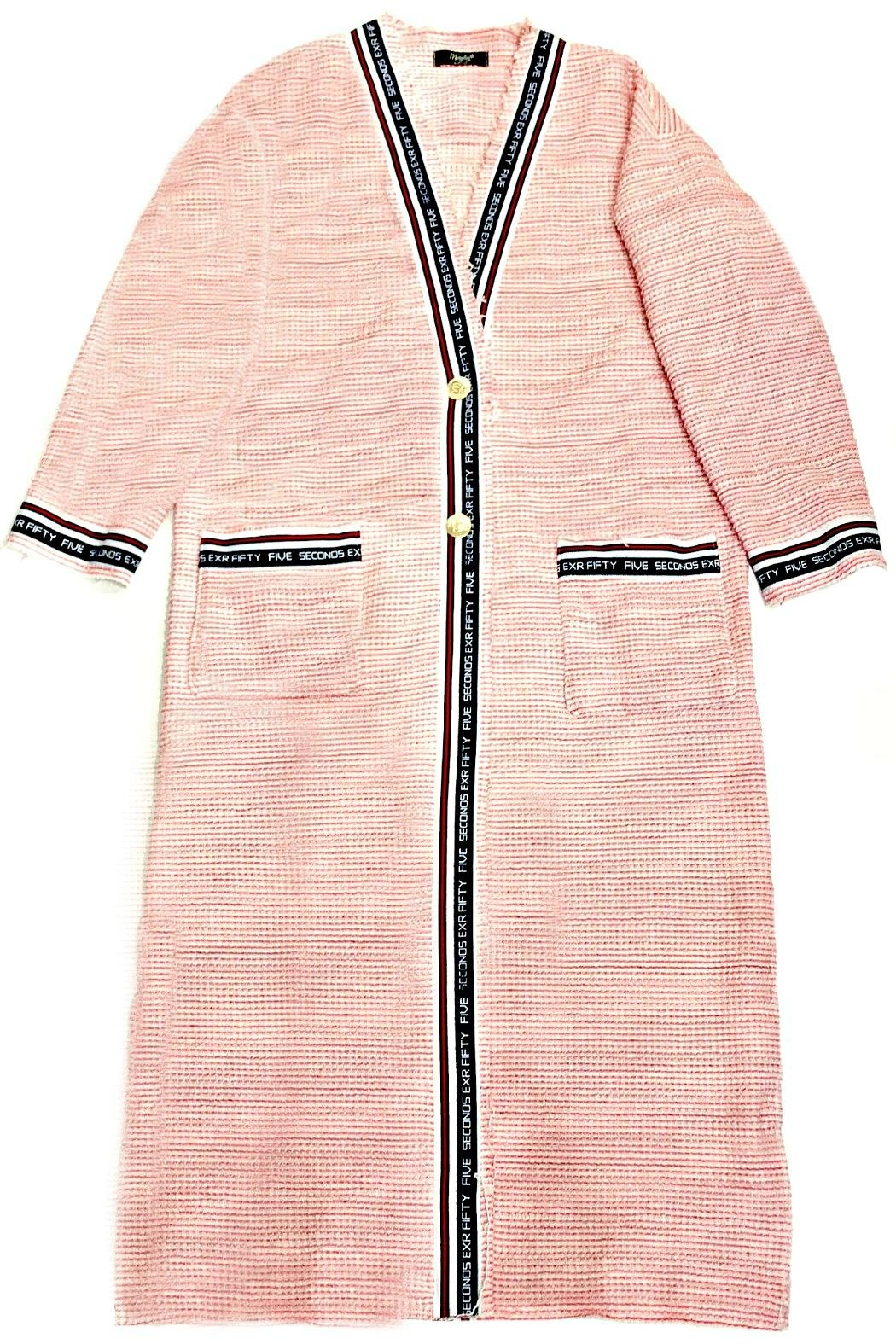 Maryley Pink Tweed Duster - Front Full Image