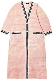 Maryley Pink Tweed Duster - Front full body