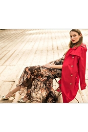 Maryley Solid Trench Coat - Product Mini Image