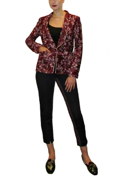 Maryley Wine Floral Blazer - Product List Image