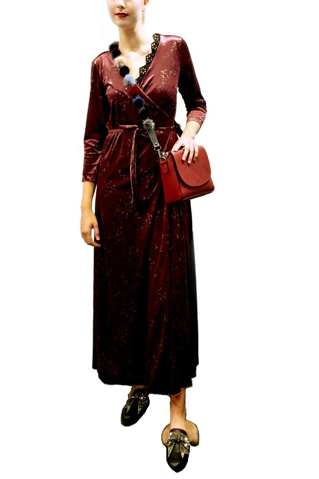 Maryley Wine Maxi Wrap - Side Cropped Image