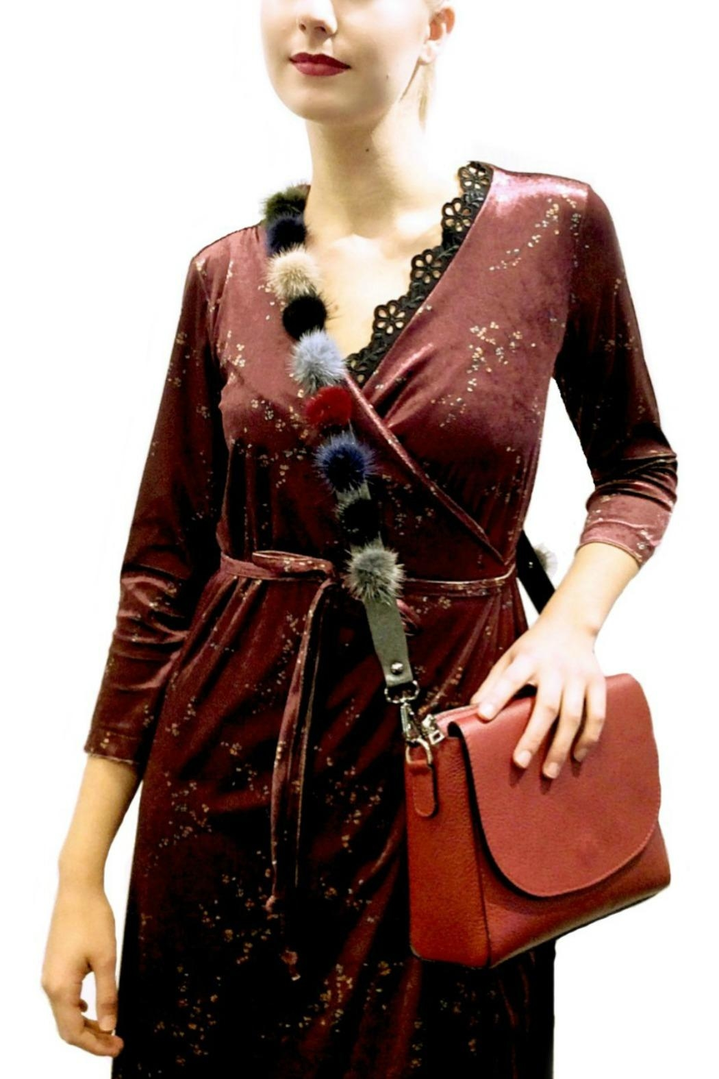Maryley Wine Maxi Wrap - Back Cropped Image