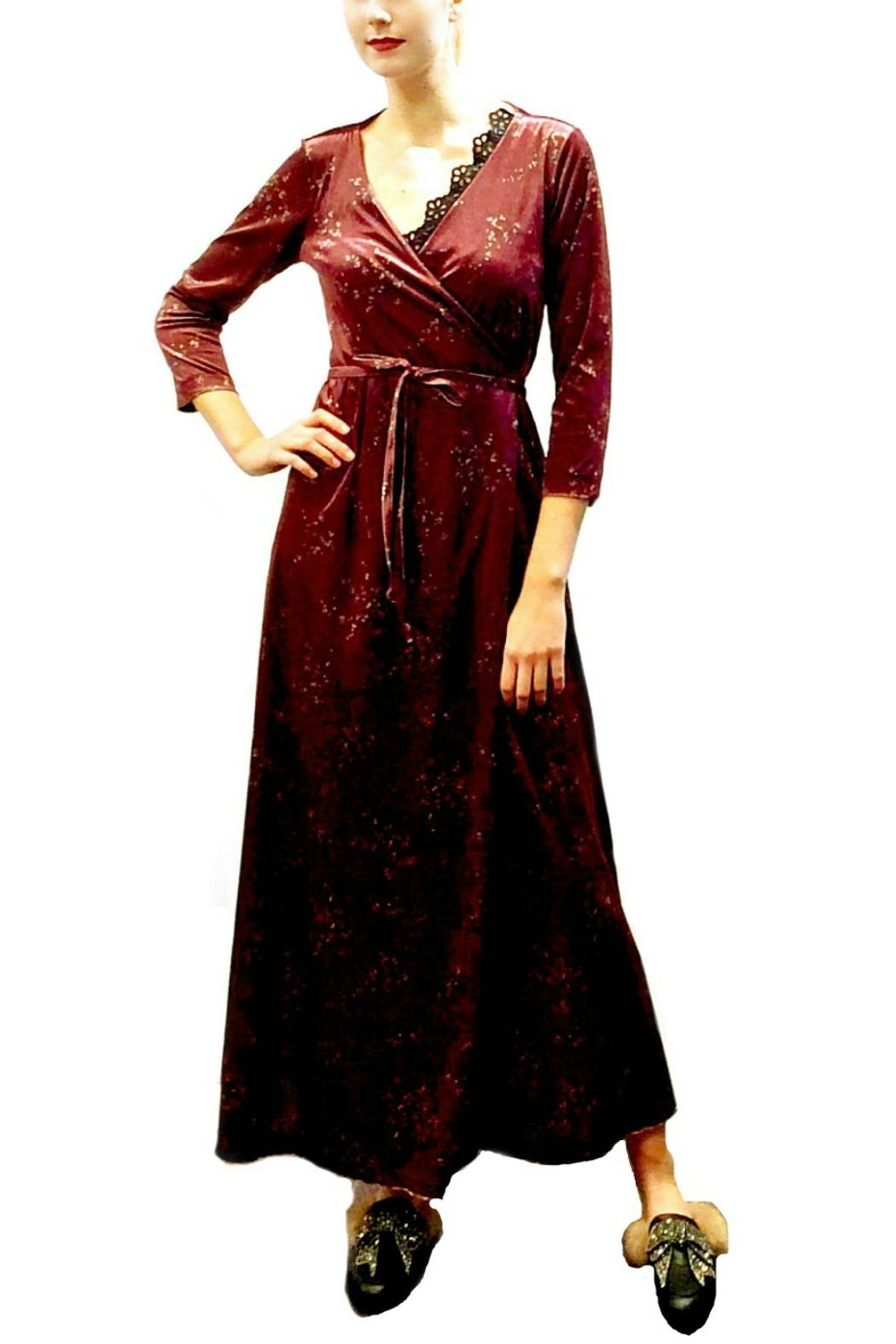 Maryley Wine Maxi Wrap - Main Image