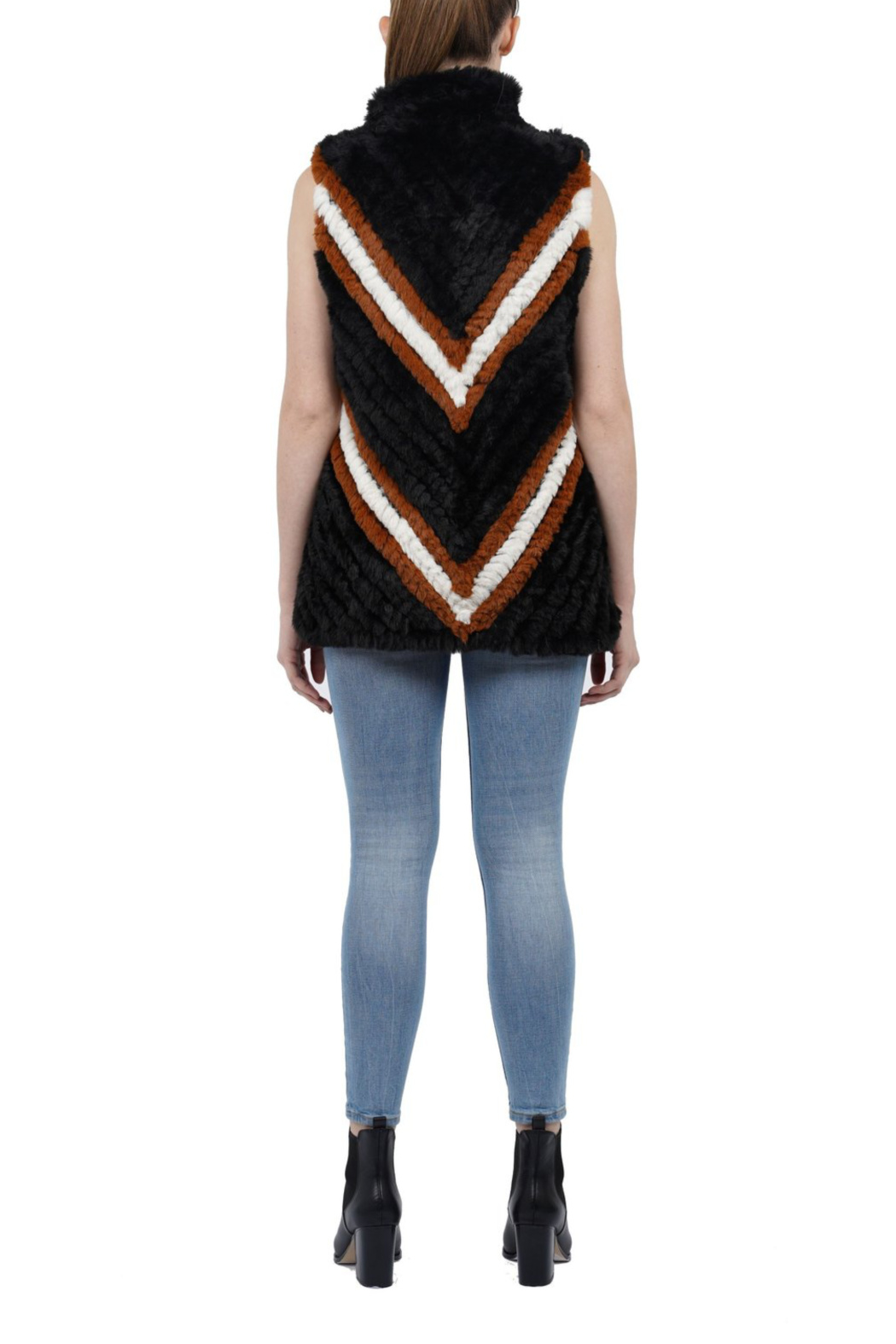 love token Marylin faux fur vest - Front Full Image