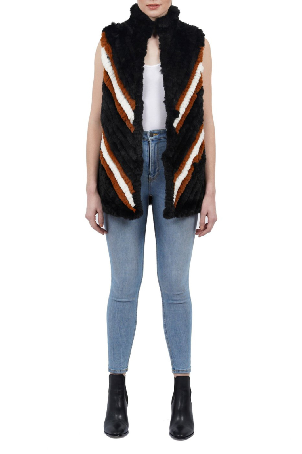 love token Marylin faux fur vest - Front Cropped Image
